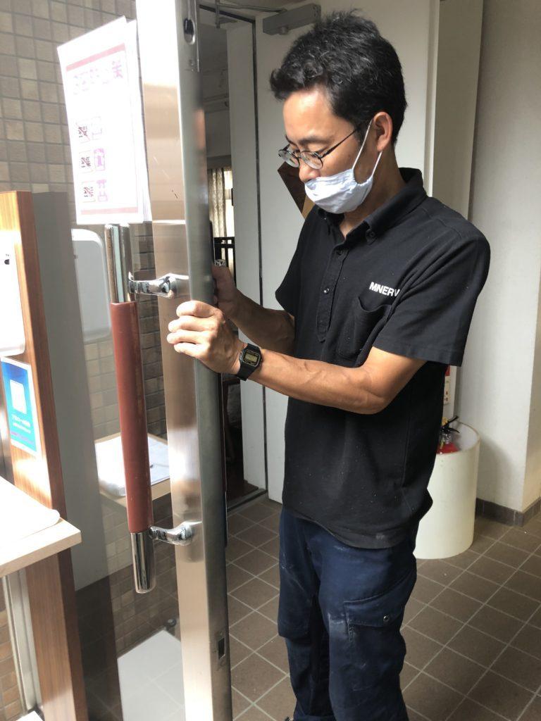 "alt=""ミネルバ本社手摺のリニューアル"""